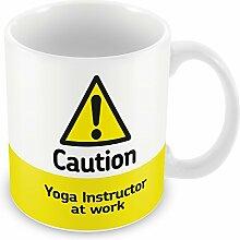 Vorsicht Yoga Instructor AT WORK Becher 429