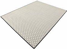 Vorwerk Bijou cross grau Kettelteppich Teppich 120x200 cm