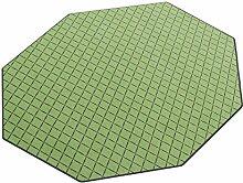 Vorwerk Bijou cross grün Kettelteppich Teppich 200x200 cm Achteck