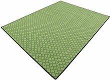 Vorwerk Bijou cross grün Kettelteppich Teppich 200x200 cm