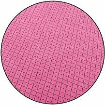 Vorwerk Bijou cross pink Kettelteppich Teppich 200 cm Ø Rund
