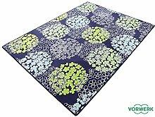 Vorwerk Bijou Fleur blau Kettelteppich Teppich 120x200 cm