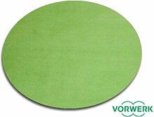 Vorwerk Bijou grün der HEVO® Spielteppich nicht nur für Kinder 200 cm Ø Rund