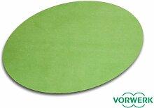 Vorwerk Bijou grün der HEVO® Spielteppich nicht nur für Kinder 125x195 cm Ellipse
