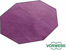 Vorwerk Bijou lila der HEVO® Teppich | Spielteppich nicht nur für Kinder 200 cm Achteck