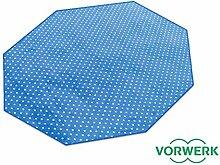 Vorwerk Bijou Petticoat blau Teppich | Kinderteppich | Spielteppich 200 cm Achteck Sonderedition