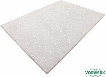 Vorwerk Bijou Stars grau Teppich | Kinderteppich | Spielteppich 135x200 cm Sonderedition