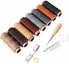 Vosarea 18 Stück Leder Handwerk Werkzeuge mit