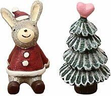 VOSAREA 2 Stücke Weihnachten Miniatur Ornament