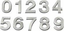 Vosarea 20 Stücke 3D-Hausnummer 0-9 Aufkleber