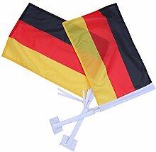 Vosarea 2Pcs Autofahne Autoflagge Deutschland