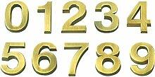 Vosarea 3D-Hausnummer 0-9 Aufkleber Türnummer