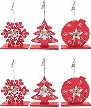 VOSAREA 6 Stücke Weihnachten Tischkartenhalter