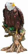 VOSAREA Adler Skulptur Baum Vogel Tierfigur Figur