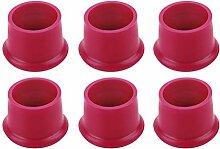 Vosarea Flaschenstöpsel aus Silikon, Rot, 6 Stück
