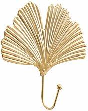 VOSAREA Golden Leaf Wand Haken Metall Mantel Haken