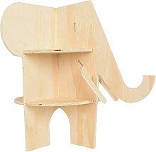 VOSAREA Holzlager Ecke Regale Elefant Geformt