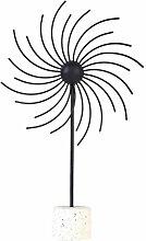 VOSAREA Metall Windmühle Statue Kreative Handwerk
