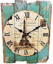 Vosarea Quadratische rustikale hölzerne Uhr