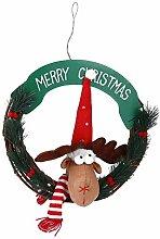 VOSAREA Weihnachtskranz Dekor Rentier Kleinen