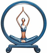 VOSAREA Yoga Figur handgemachte Harz Charakter
