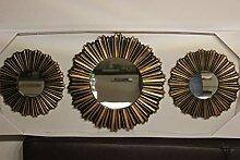 Voss 3er Set Wandspiegel rund, 2 x Durchmesser 25