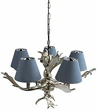 Voss Design Kronleuchter Geweih 57cm Blau
