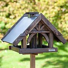 Vogelfutterhaus Hochwertig verarbeitet Futterhaus Vogelh/äuschen JEMIDI XXL Vogelhaus mit St/änder aus Holz 155cm mit Kupferdach
