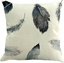 Vovotrade Schöne Feather Sofa Bed Home Dekoration Kissenbezug Kissenbezug (B)