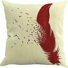Vovotrade Schöne Feather Sofa Bed Home Dekoration Kissenbezug Kissenbezug (A)