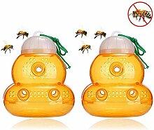 Vowco 2 Stück Wespenfalle, Insektenfalle Für