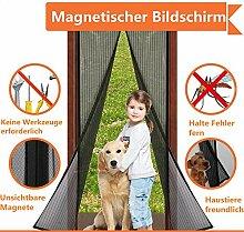 VOYAGO Magnet Fliegengitter Tür Insektenschutz, Fliegen Gitter Türvorhang Magnetic Moskito Netz, Wohnzimmertür, Schiebetür, Ohne Bohren (120x220 CM)