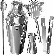 Vremi Stainless Steel Cocktail Shaker Set - 5