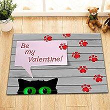 vrupi Cartoon frische süße Katze Teppich