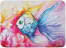 vrupi Fisch Badematte Aquarell Fischfarbe mit