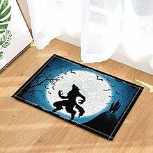 vrupi Halloween werwolf im Schloss mit Fledermaus
