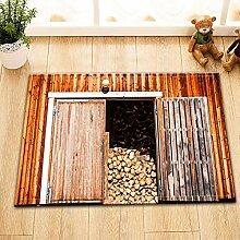 vrupi Küche Türmatte Scheune mit Brennholz