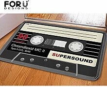 vrupi Musik Band Muster Vintage Radio Dekoration
