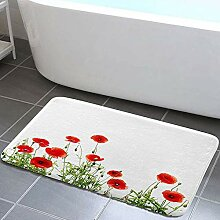 vrupi Nature Floral Poppy Flower Bad Teppiche