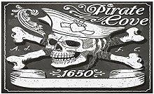 vrupi Piraten-Fußmatte, Piraten-Bay-Logo,