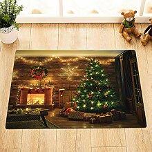 vrupi Weihnachten Innen Rutschfester Teppich