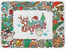 vrupi Weihnachtsbadematte mit saisonalen Elementen