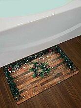 vrupi Weihnachtskranz auf einfachem Holzbrett