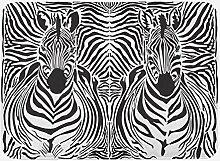 vrupi Zebradruck Badematte Illustration Muster