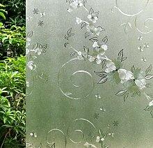 VSUDO Fensterfolie für Fenster, Milchglas-Optik,