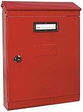 Vulcania Briefkasten aus Stahl, rot, 2500EV1PRO