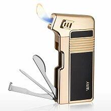 VVAY Pfeifenfeuerzeug, Pfeifen Feuerzeug Gas Butan