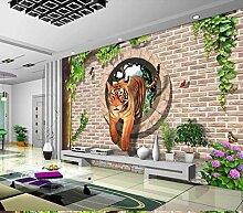 VVBIHUAING 3D Dekorationen Wandbilder Tapete Wand