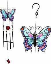 Vvrai Amour Glas Schmetterling Windspiel gebeizt