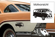 VW Bulli, Fahrzeugaufkleber, Volkswagen, Typ 2,
